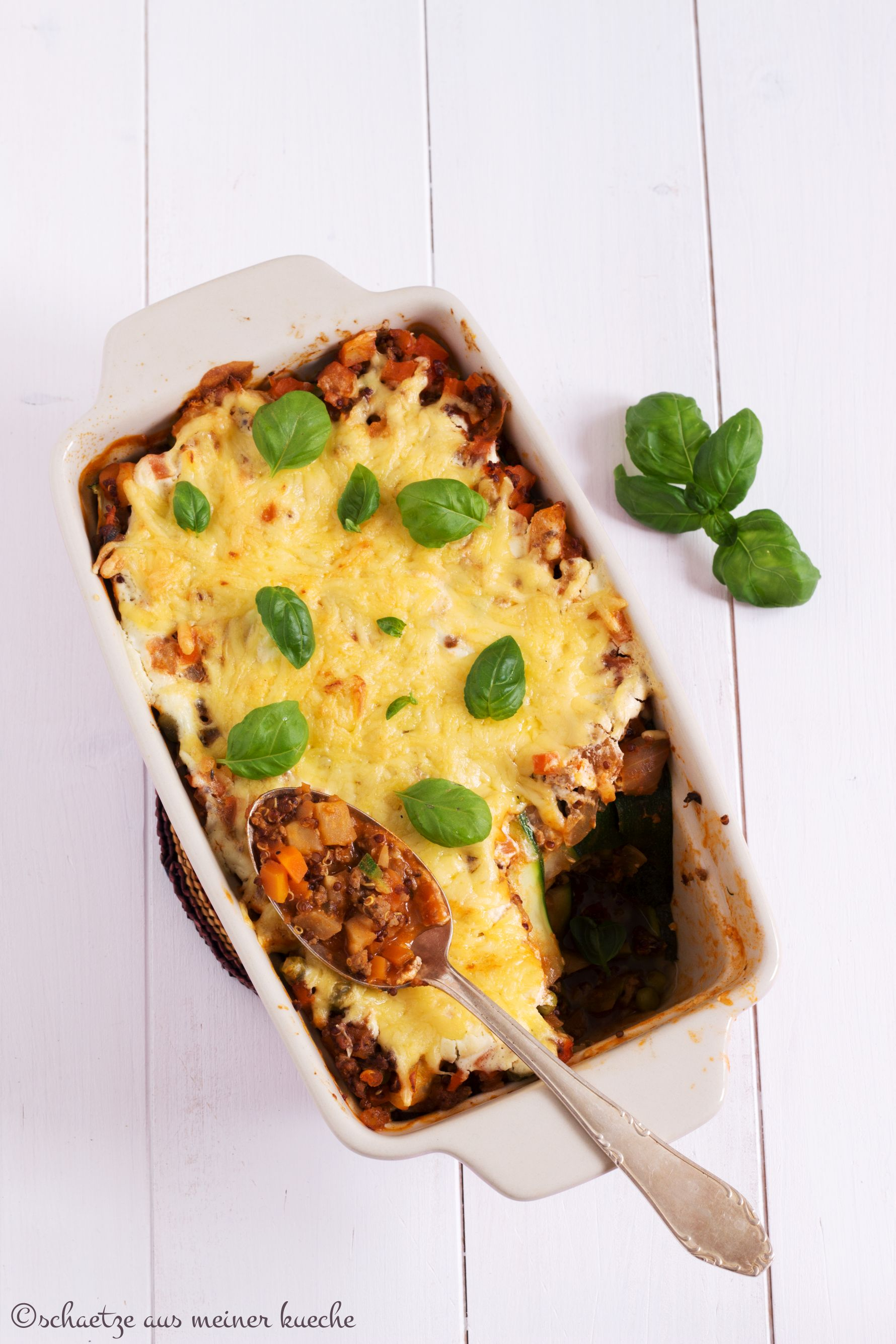 lasagne mit quinoa linsen sch tze aus meiner k che. Black Bedroom Furniture Sets. Home Design Ideas
