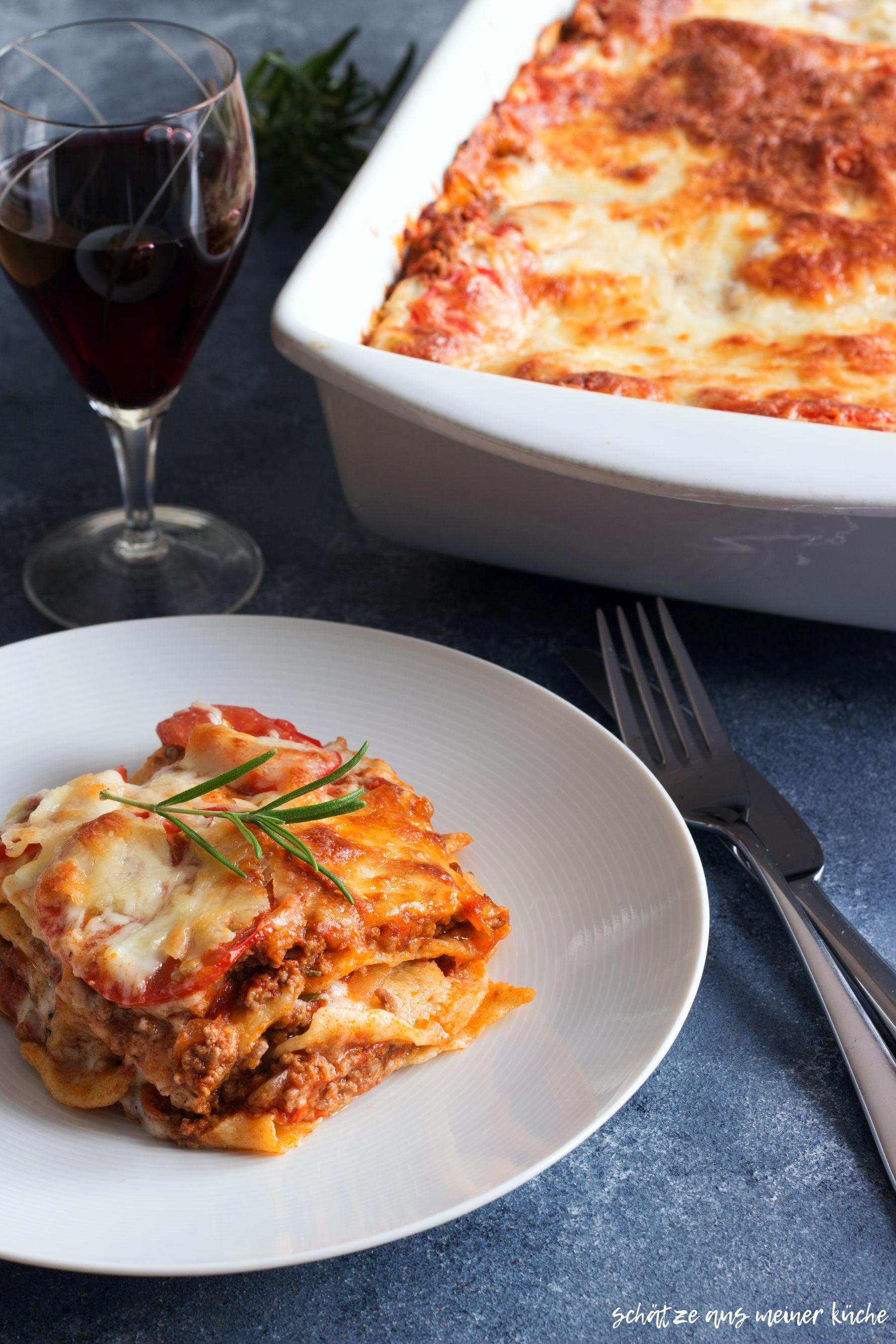 Hausgemachte Lasagne al forno Schätze aus meiner Küche italienische Lasagne