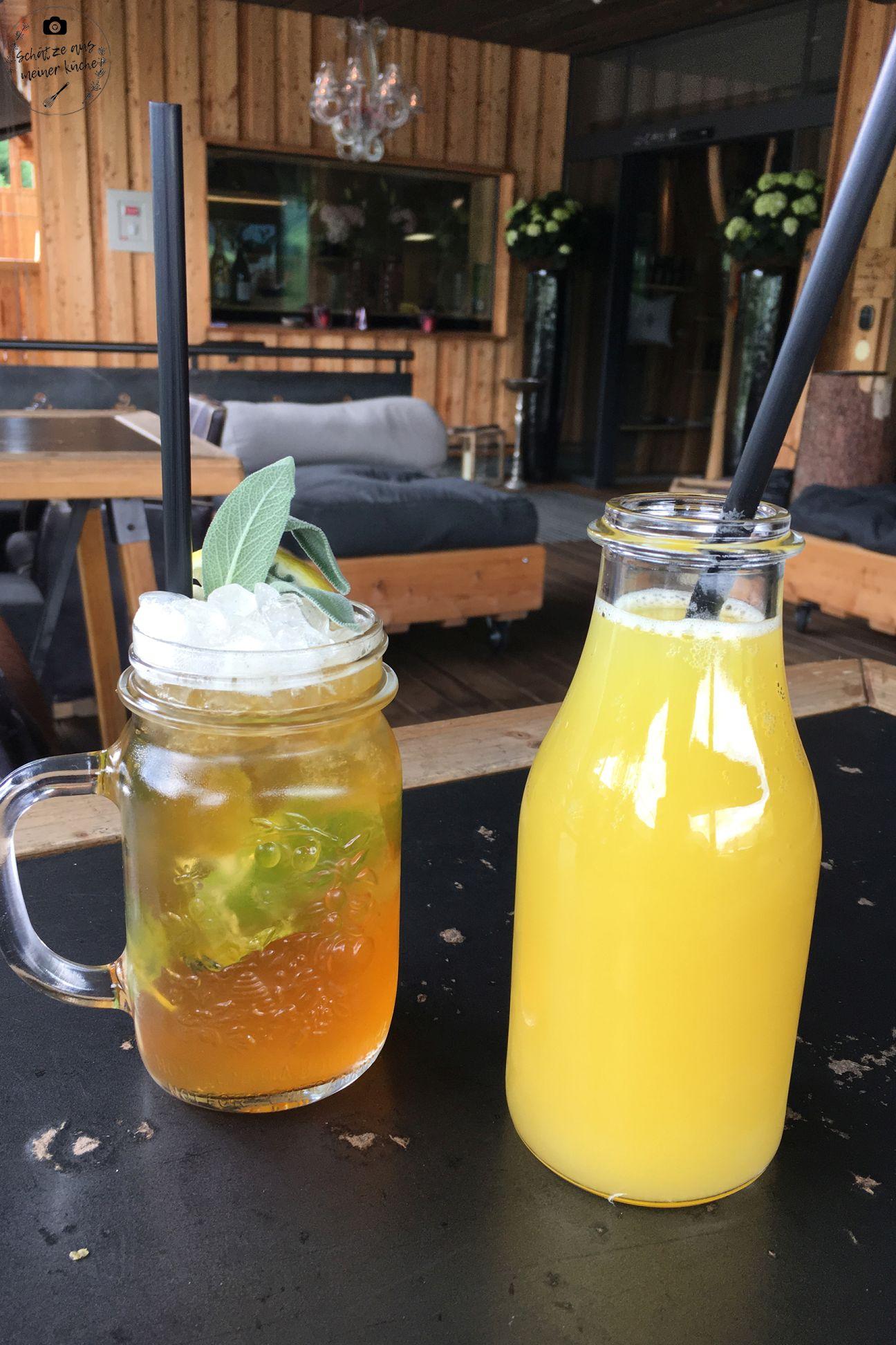 Hausgemachter Eistee Orangensaft mama thresl Drinks Erfrischung