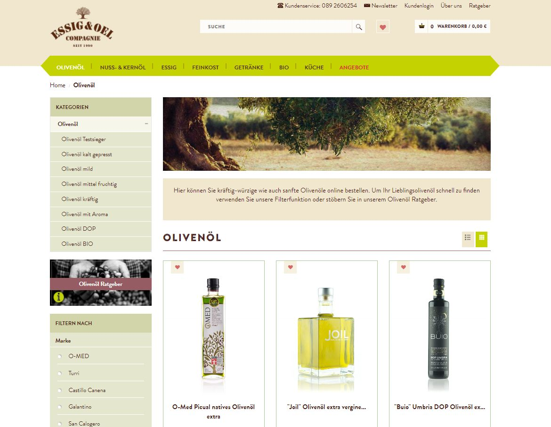 Essig & Öl Onlineshop Olivenöle