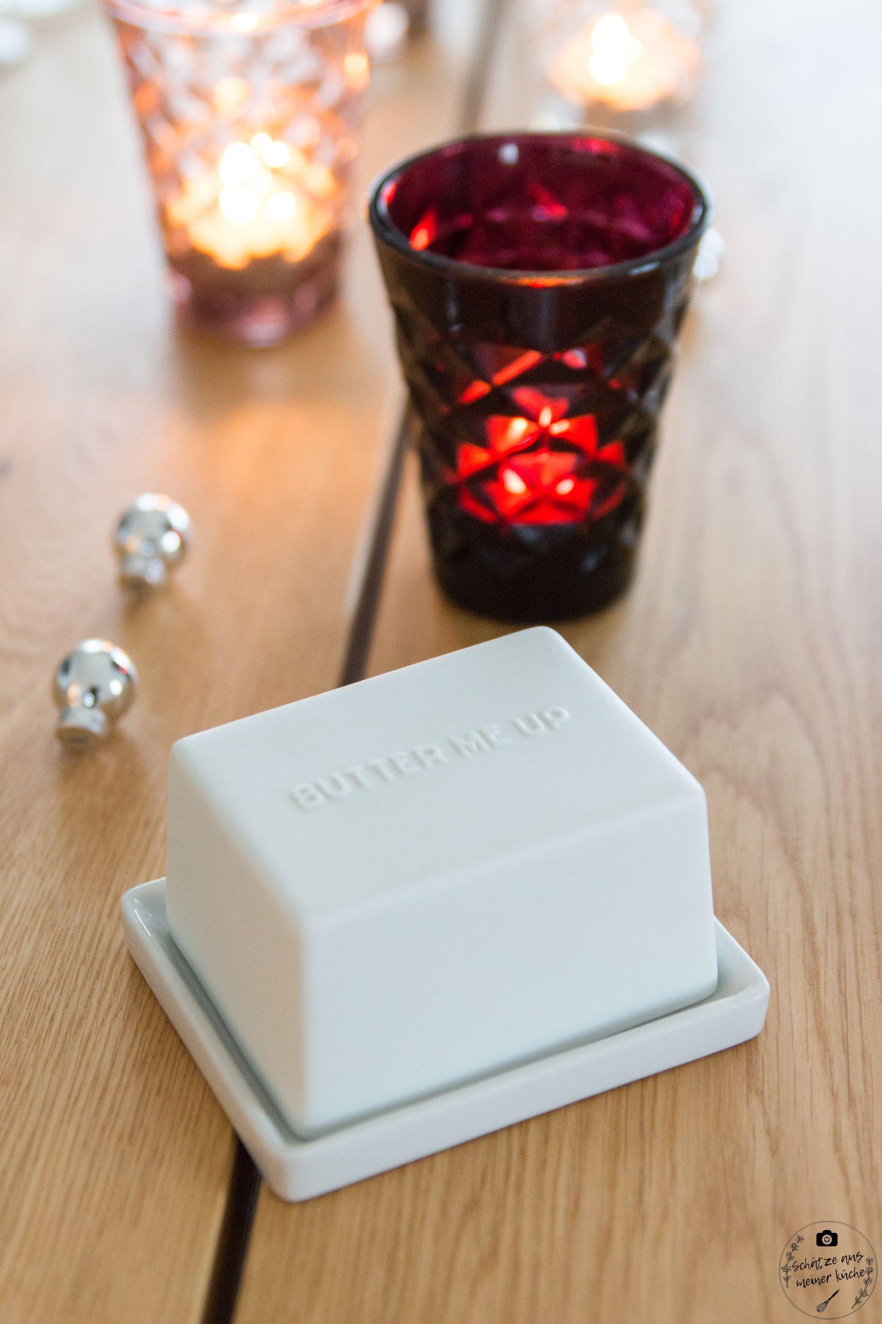 ediths butterdose gedeckter Tisch teelichtglas facet tinekhome