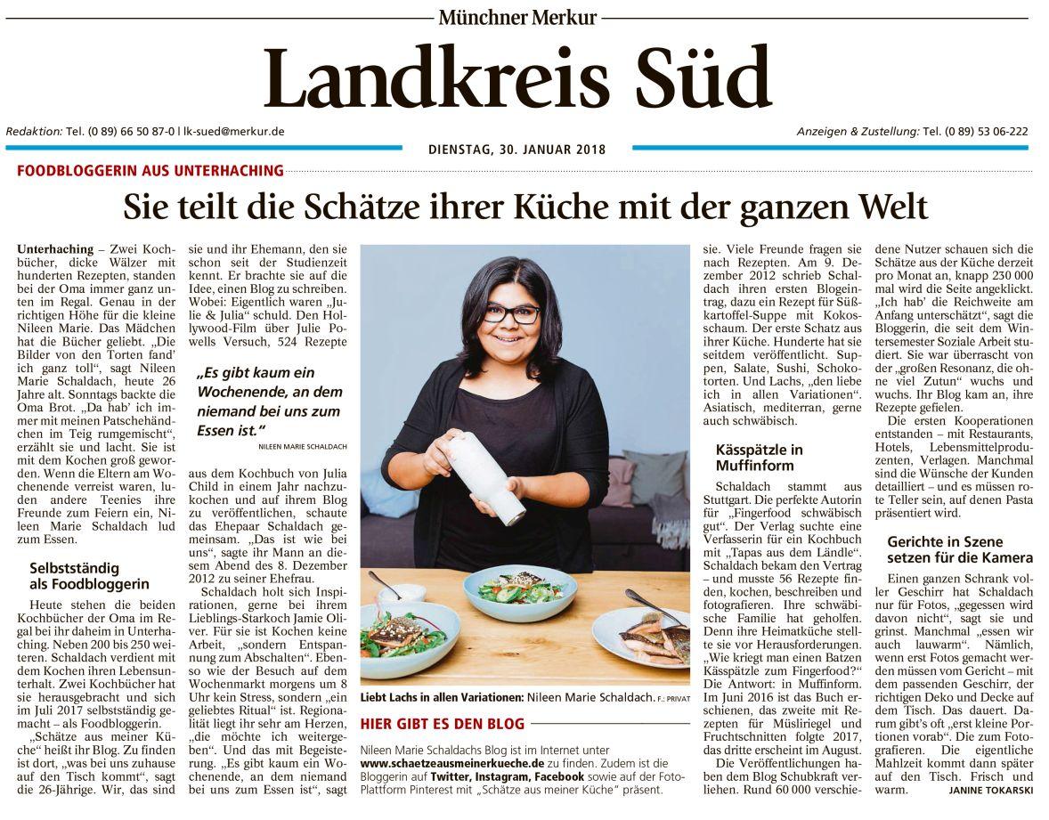 Münchner Merkur Artikel Foodblog Schätze aus meiner Küche