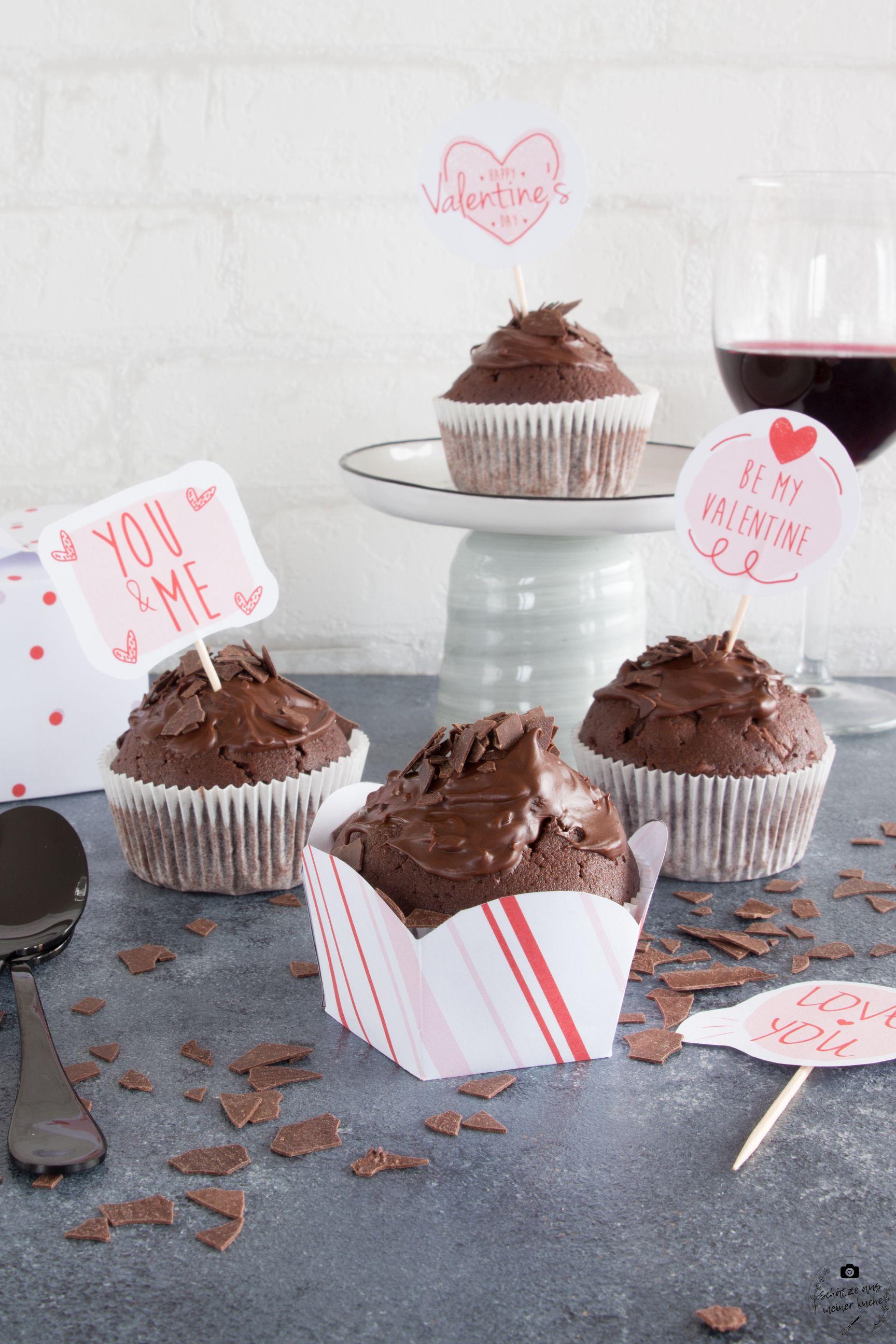 rezept f r k stliche rotwein schokoladen muffins sch tze aus meiner k che. Black Bedroom Furniture Sets. Home Design Ideas