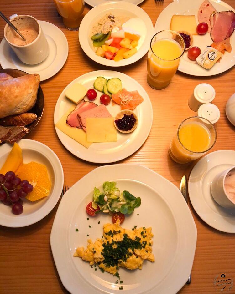 Frühstück Haubers Naturresort