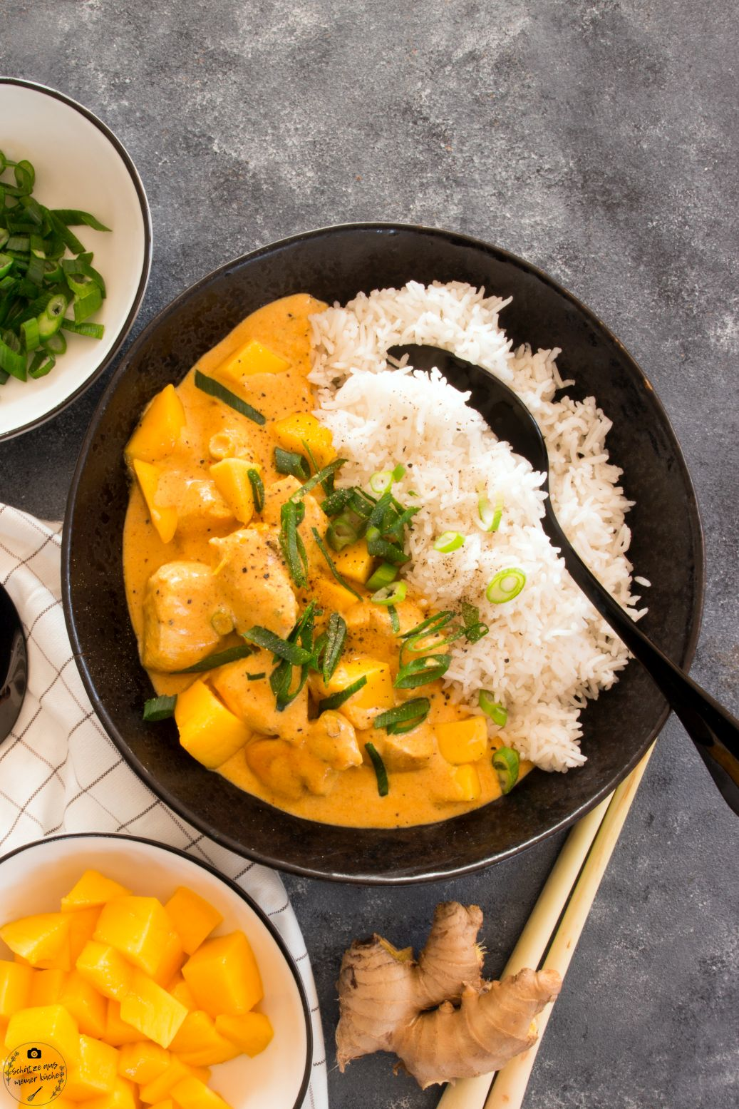 Mango Chicken Curry mit Basmatireis